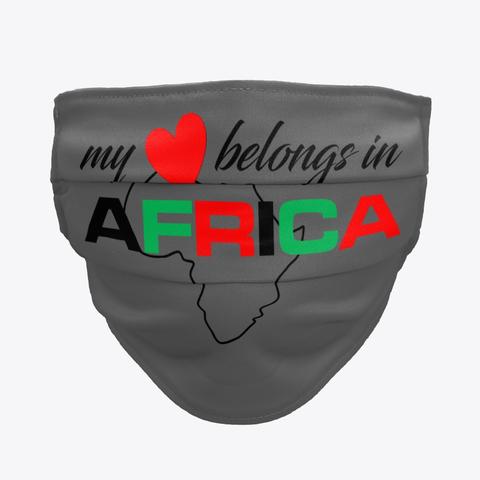 My heart belongs In Africa face mask