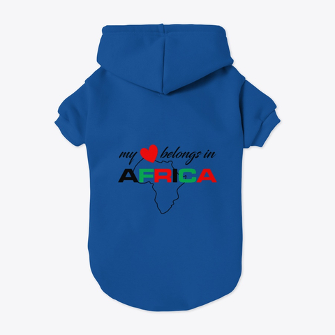 My heart belongs In Africa pet hoodie