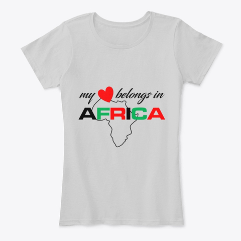 My heart belongs In Africa woman's comfort tee