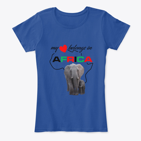 My heart belongs In Africa Elephant Mother & child - womens comfort t-shirt
