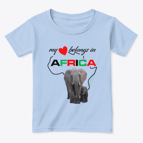 My heart belongs In Africa Elephant Mother & child - toddlers t-shirt
