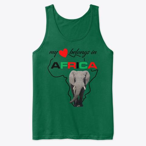 My heart belongs In Africa Elephant tank top