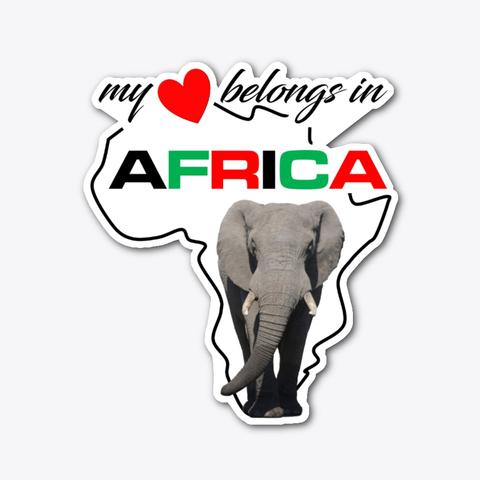 My heart belongs In Africa Elephant sticker