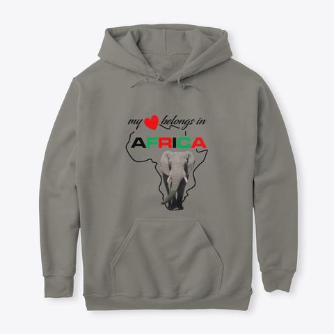 My heart belongs In Africa Elephant - hoodie