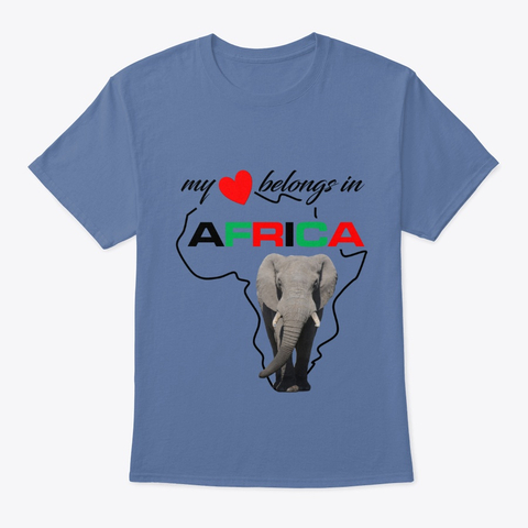 My heart belongs In Africa Elephant - t-shirt