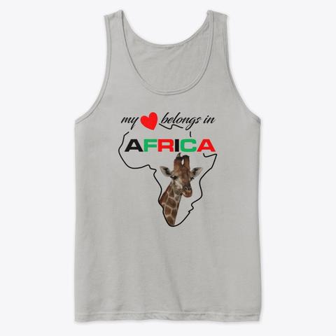 My heart belongs In Africa Giraffe - tank top