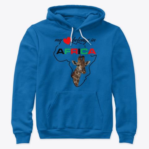 My heart belongs In Africa Giraffe - hoodie