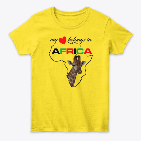 My heart belongs In Africa Giraffe - womens classic tee