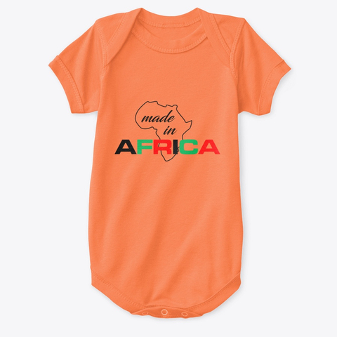 Made in Africa baby onesie