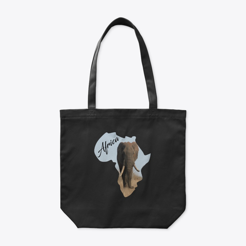Africa with Elephant fill - tote bag
