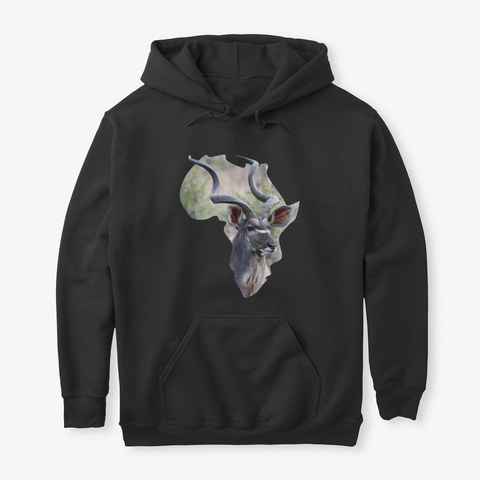 Africa with Kudu fill - hoodie