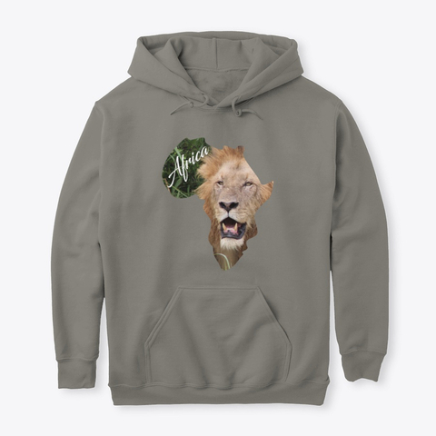 Africa with Lion fill - hoodie
