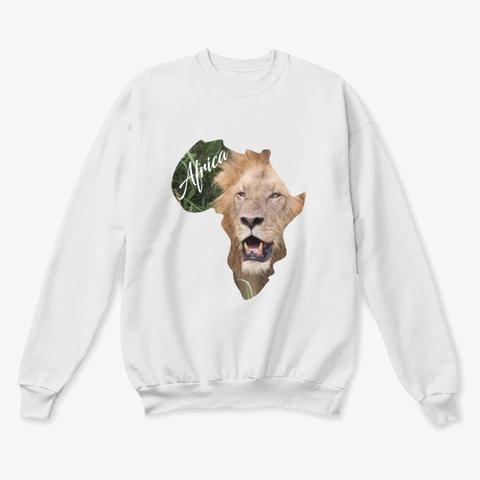Africa with Lion fill - crew neck sweatshirt