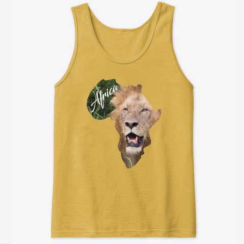 Africa with Lion fill - tank top