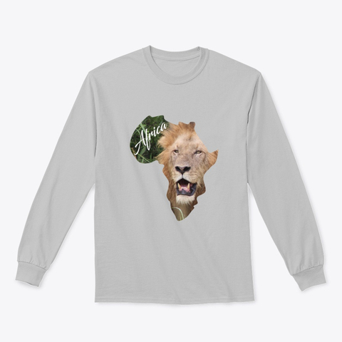 Africa with Lion fill - long sleeve t-shirt