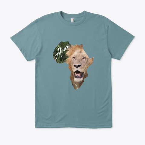 Africa with Lion fill - eco unisex t-shirt