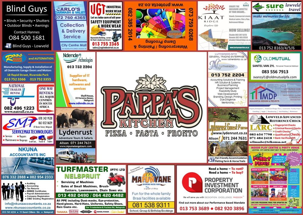 Pappas Restaurant Placemat 1