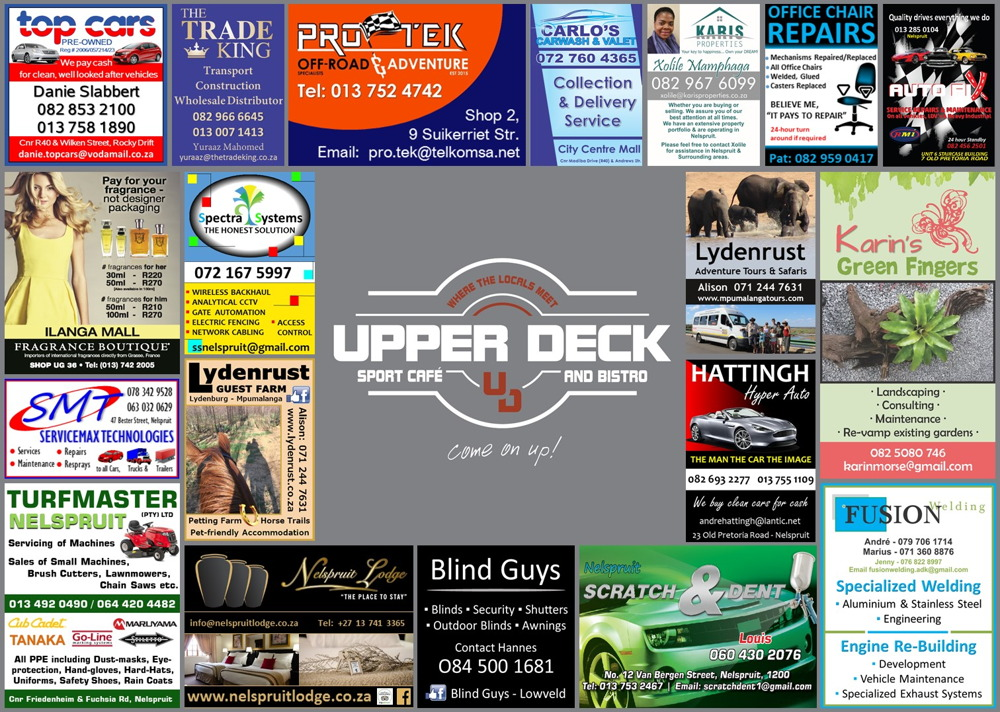 Upper Deck Restaurant Placemat 3