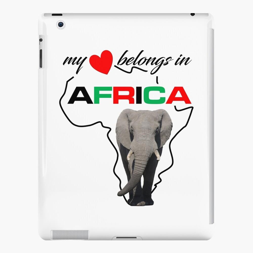 My heart belongs In Africa Elephant - iPad case & skin
