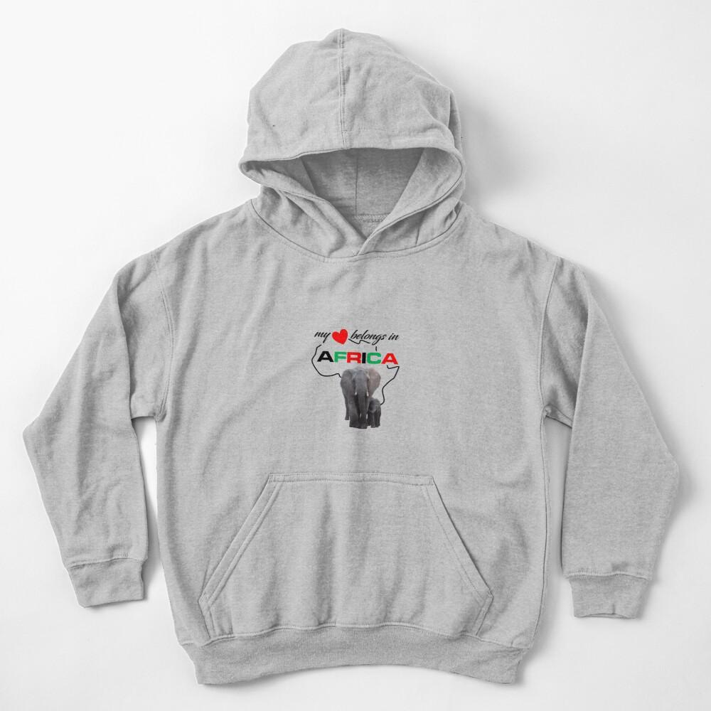My heart belongs In Africa Elephant Mother & child kid's hoodie