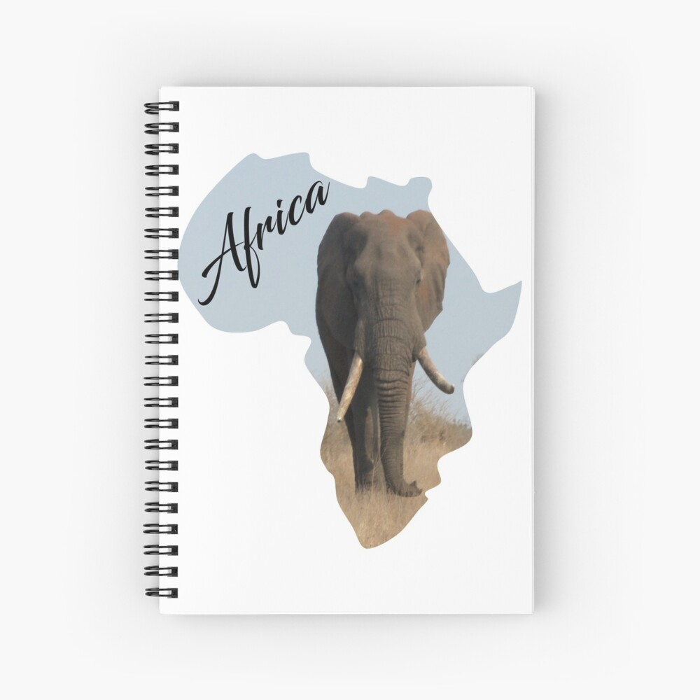 Africa with Elephant fill - notebook