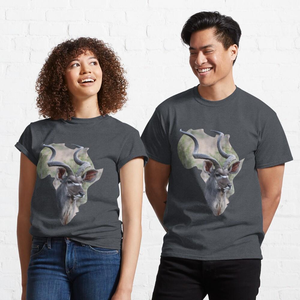 Africa & Kudu -classic-t-shirt