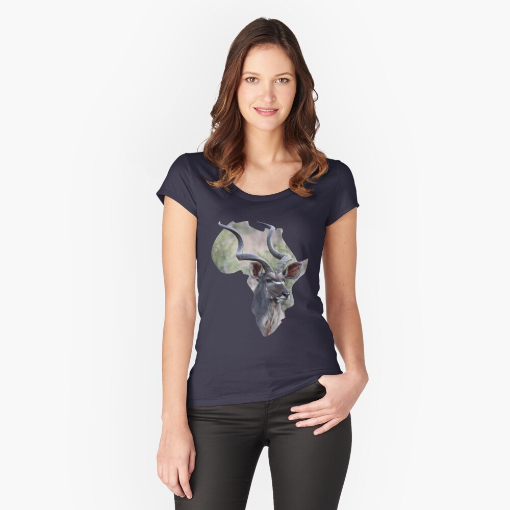 Africa & Kudu - scoop t-shirt