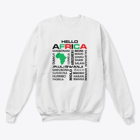 Hello Africa sweater