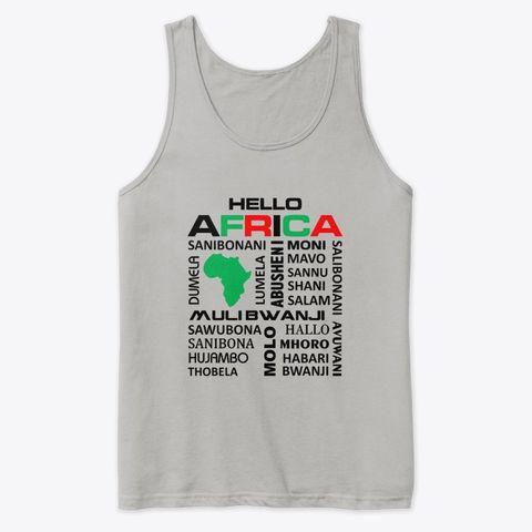 Hello Africa tank top
