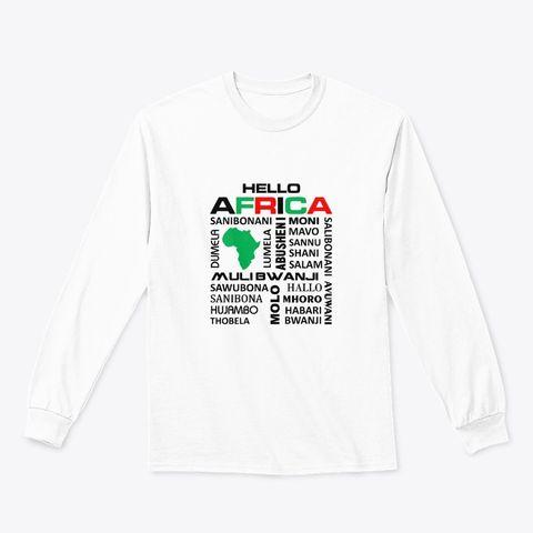 Hello Africa longsleeve tee