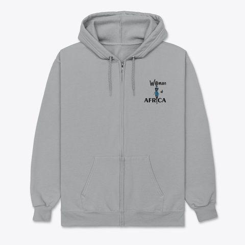 Woman of Africa zip front hoodie