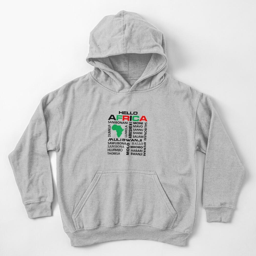 Hello Africa kiddie's hoodie