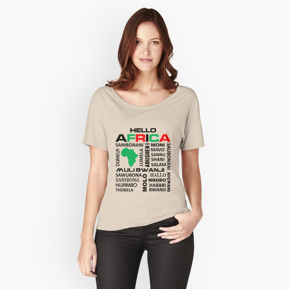 Hello Africa relaxed fit t-shirt