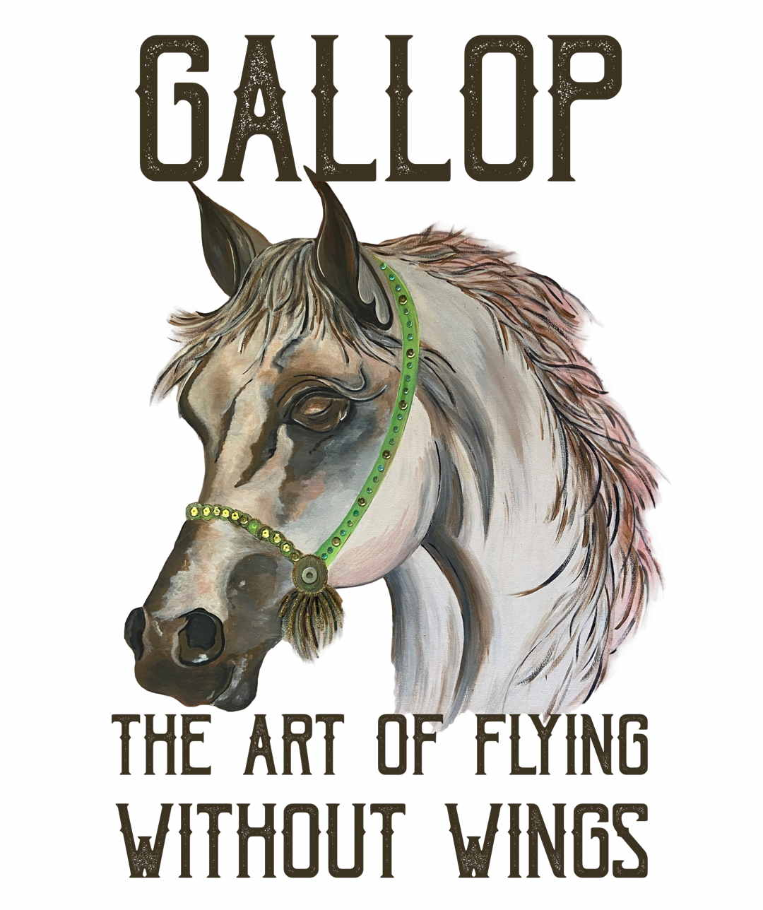 Gallop t-shirt print